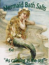 Mermaid Bath Salts Metal Wall Sign (3 sizes)